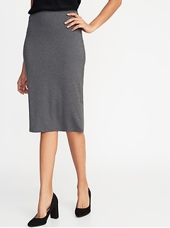 Jersey-Knit Midi Pencil Skirt for Women