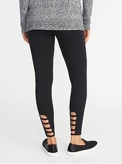 Lattice-Hem Leggings for Women
