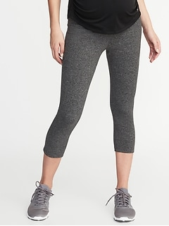 Maternity High-Rise Elevate Compression Crops