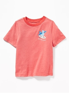 Animal-Graphic Tee for Toddler Boys