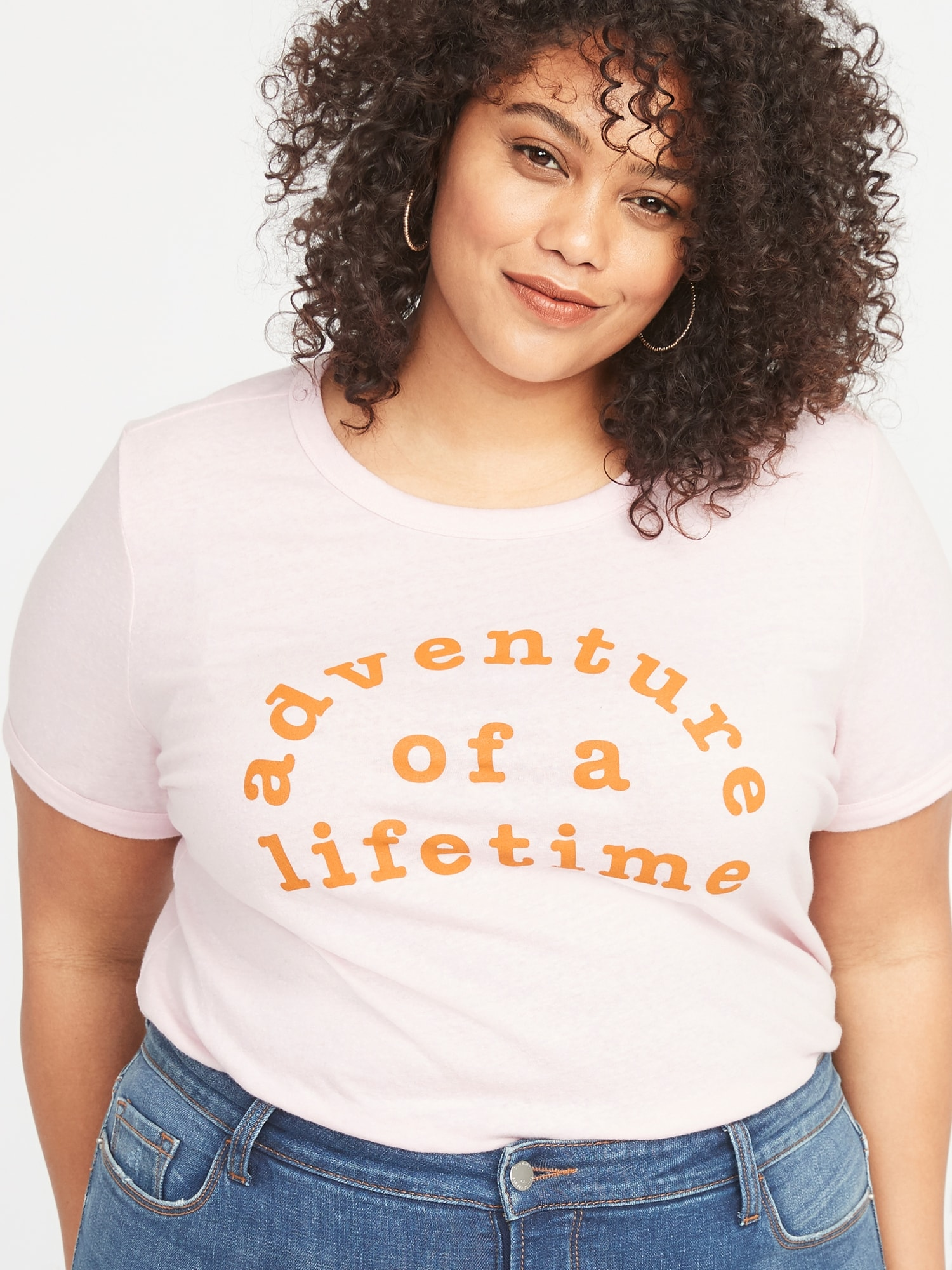 52b680784 Plus-Size Slim-Fit Graphic Ringer Tee | Old Navy