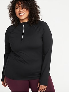 Semi-Fitted Plus-Size 1/4-Zip Performance Jacket