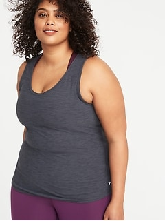 Breathe ON Plus-Size Mesh-Back Tank