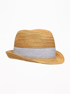 Straw Fedora for Baby
