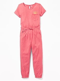 Striped Jersey Jumpsuit for Girls