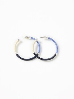 Thread-Wrapped Hoop Earrings for Women