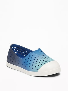 Perforated Ombré Slip-Ons For Toddler Boys