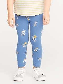 Full-Length Built-In Tough Leggings for Toddler Girls