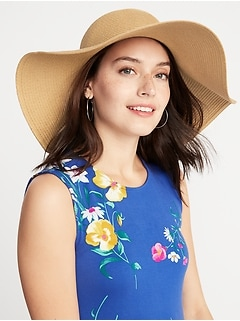 Floppy Straw Sun Hat for Women