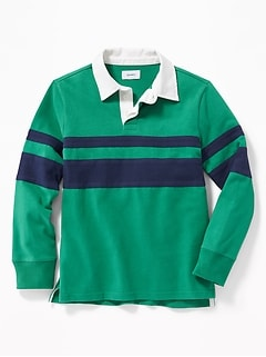 Color-Blocked Rugby for Boys