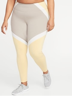 High-Rise Color-Block Elevate Compression Plus-Size Leggings