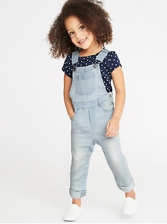 24/7 Denim Overalls for Toddler Girls