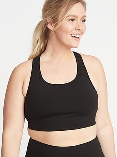 Medium-Support Plus-Size Racerback Sports Bra