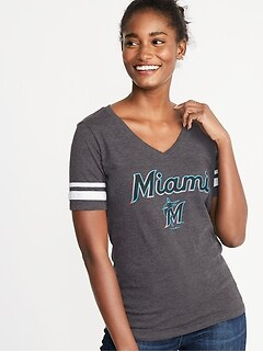 MLB® Team-Graphic Sleeve-Stripe Tee for Women