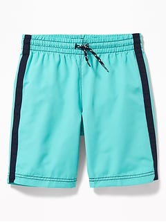 Side-Stripe Swim Trunks for Boys