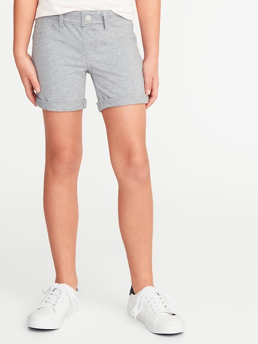 Cuffed French Terry Shorts for Girls