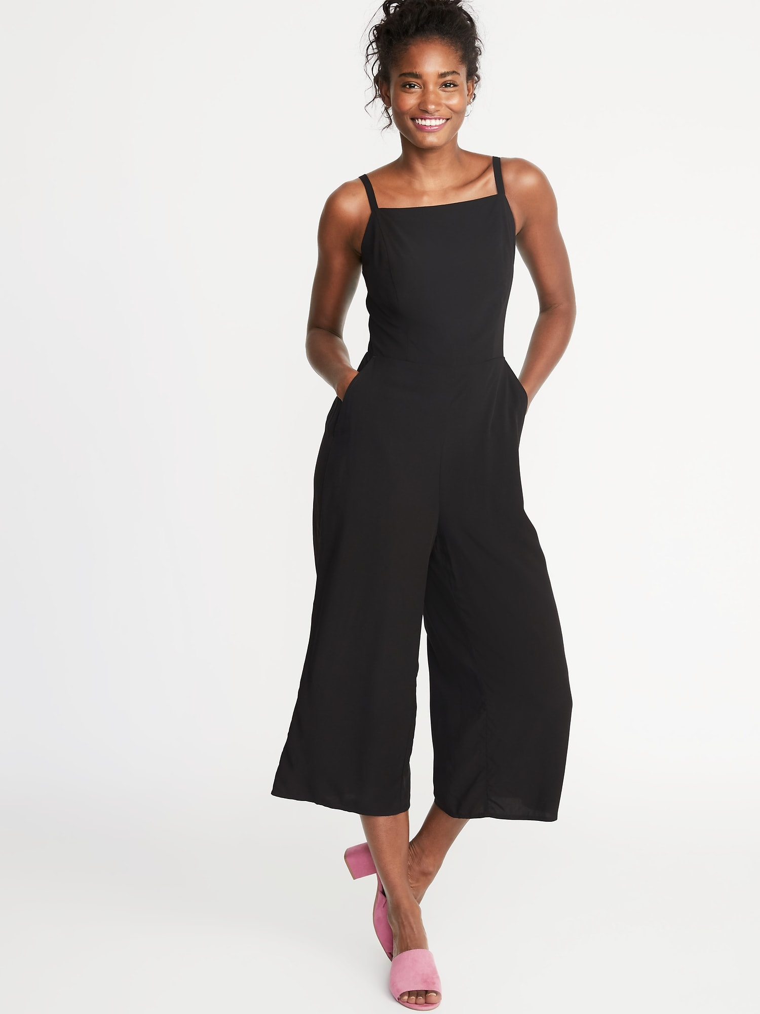 baf3ccf7fd8 Square-Neck Cami Jumpsuit for Women | Old Navy