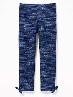 Cropped Side-Tie Leggings for Girls