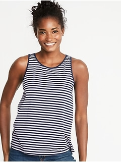 EveryWear Striped Jersey Tank for Women