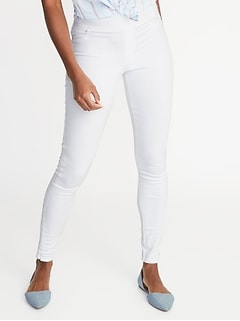 c372c546e9a Mid-Rise White Rockstar Pull-On Jeggings for Women