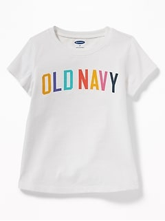 Logo-Graphic Tee for Toddler Girls