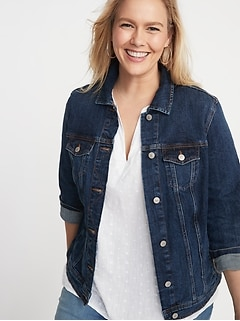 Classic Denim Plus-Size Jacket