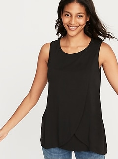 Maternity Cross-Front Nursing Tank