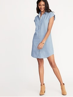 ff41e1d9af30 Chambray Shirt Dress for Women