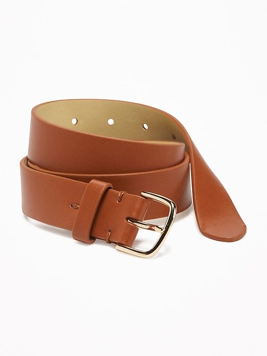 "Faux-Leather Belt for Women (1"")"