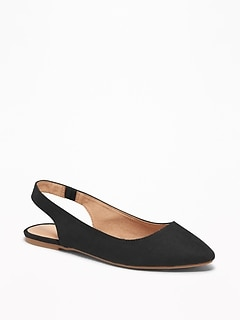 Faux-Suede Slingback Flats for Women