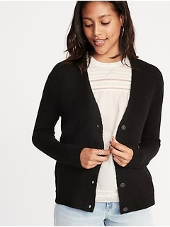 Slouchy Soft-Brushed V-Neck Cardi for Women