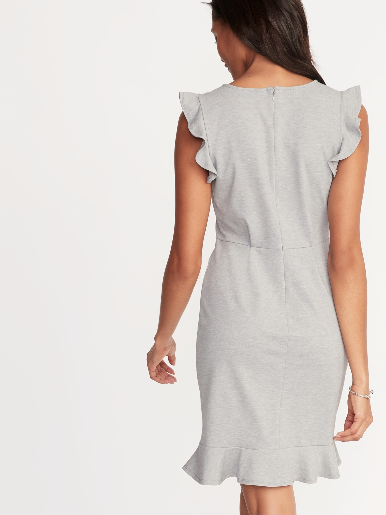 b38c486330ac Ruffled Ponte-Knit Sheath Dress for Women ...