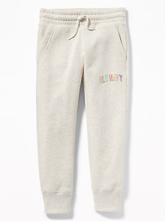 Logo-Graphic Joggers for Girls