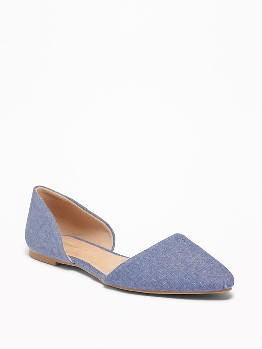 Chambray D'Orsay Flats for Women