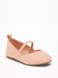 Faux-Suede Ballet Flats For Toddler Girls