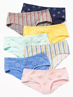 Hipster Underwear 7-Pack for Girls