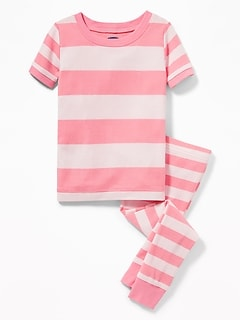 Rugby Stripe Sleep Set For Toddler Girls