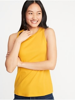 Slim-Fit High-Neck Tank for Women