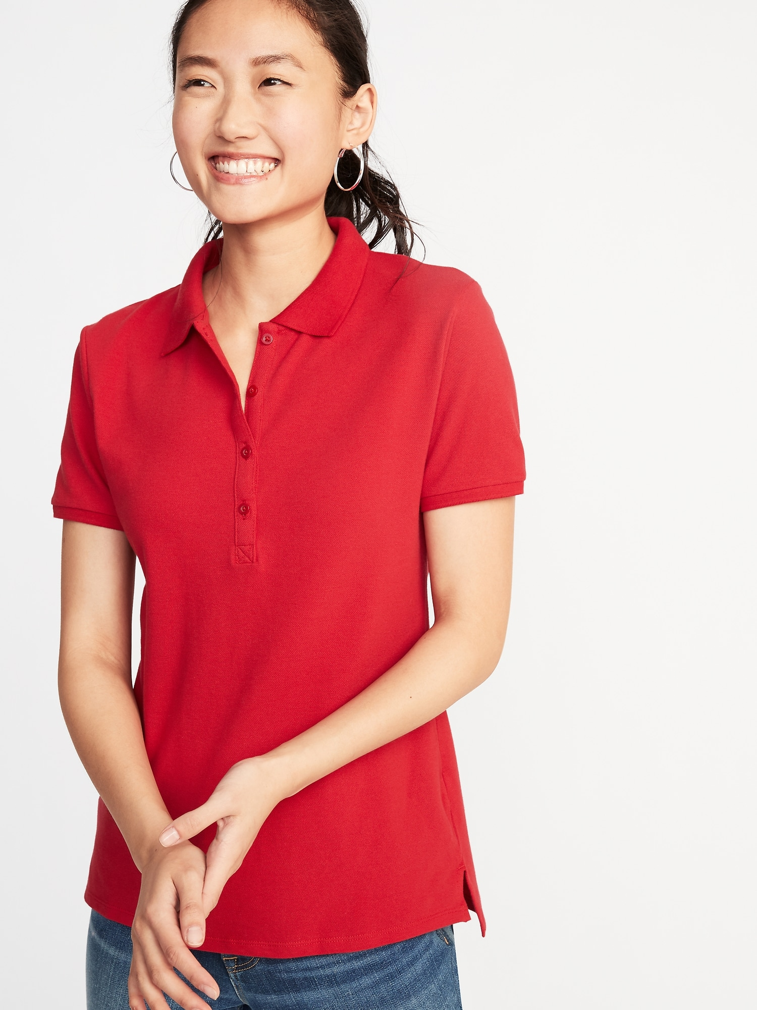 Uniform Pique Polo For Women Old Navy