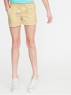 Striped Seersucker Pull-On Shorts for Girls
