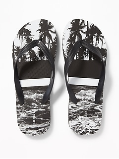 Printed Flip-Flops for Men