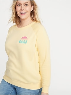 Relaxed Plus-Size Graphic Sweatshirt
