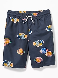adeb5768baab3e Printed Swim Trunks for Boys