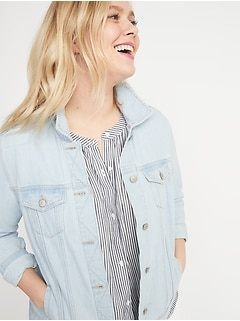 Plus-Size Jean Jacket