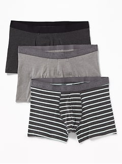 Soft-Washed Built-In Flex Trunks 3-Pack for Men - 3 1/2-inch inseam
