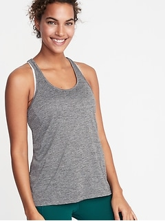 Shadow-Stripe Racerback Performance Tank for Women
