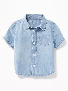 Chambray Pocket Shirt for Baby