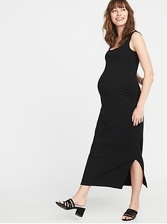 Maternity Side-Slit Maxi Tank Dress