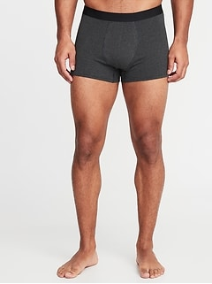 Soft-Washed Built-In Flex Patterned Trunks for Men - 3 1/2-inch inseam
