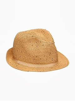 Straw Fedora for Girls